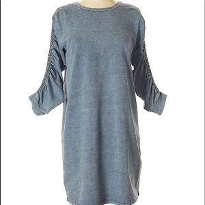 Jane & Delaney Ruched Sleeve knit dress XS